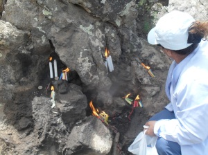 Lighting candles and praying in the Munzur Valley